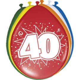 Latex Ballonnen 40 jaar