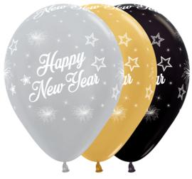 Latex ballonnen Happy New Year