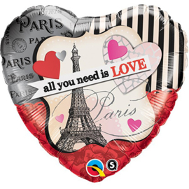 Folie Ballon All You Need is Love (leeg)
