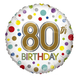 Folie Ballon 80th Birthday (leeg)