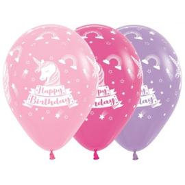 Latex Ballonnen Happy Birthday Unicorn