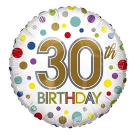 Folie Ballon 30th Birthday (leeg)