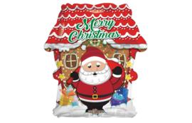 Folie Ballon Kersthuisje (leeg)