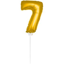 Folie Cijfer Goud 7 (leeg)