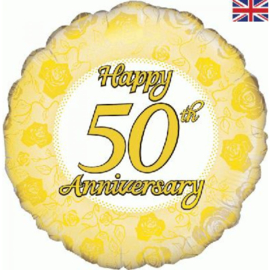 Folie ballon Happy 50th Anniversary (leeg)
