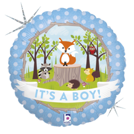 Folie Ballon Woodland Baby Boy