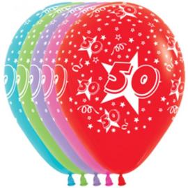 Latex ballonnen cijfer 50