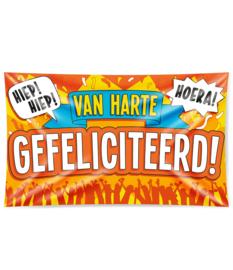 Gevel Vlag Van Harte Gefeliciteerd