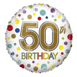 Folie Ballon 50th Birthday (leeg)