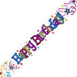 Banner 2.7m - Happy Birthday - Ribbon & Stars
