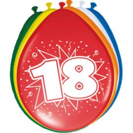Latex Ballonnen 18 jaar