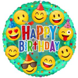 Folie  Ballon Happy Birthday Smile (leeg)