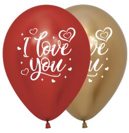 Latex Ballonnen Reflex I Love You Sparkly