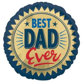 Folie Ballon Best Dad Ever (leeg)
