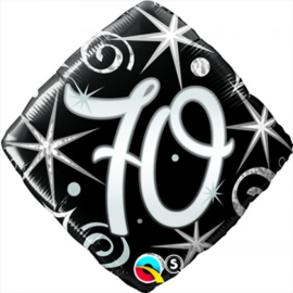 Folie ballon Square Elegant Sparkles & Swirls - 70 (leeg)