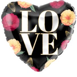 Folie Ballon Love Bloemen (leeg)