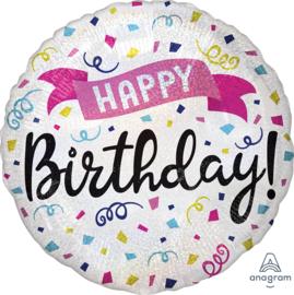 Folie Ballon Happy Birthday Sparkle (leeg)