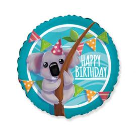 Folie Ballon Happy Birthday Koala (leeg)