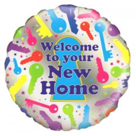 Folie Ballon Welcome to your New Home (leeg)