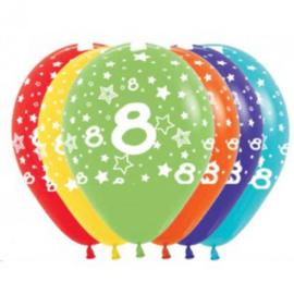 Latex Ballonnen Cijfer 8