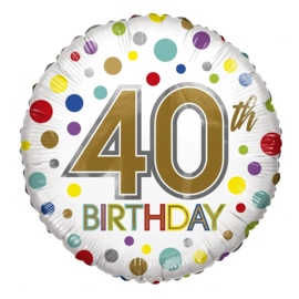Folie Ballon 40th Birthday (leeg)
