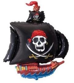 Folie ballon piratenboot (Leeg)