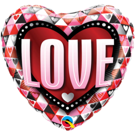 Folie Ballon Love Hart (leeg)