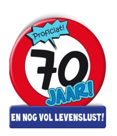 Wenskaart 70 Verkeersbord