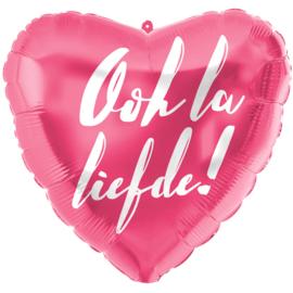 Folie Ballon Ooh la Liefde! (leeg)