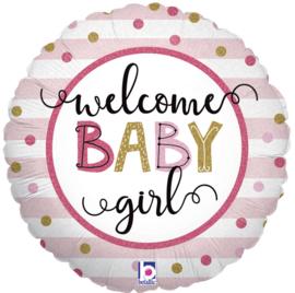 Folie Ballon Welcome Girl (leeg)