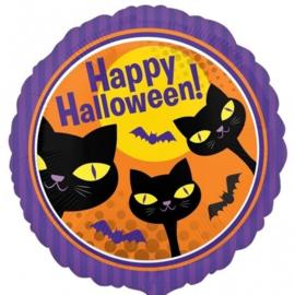 Folie Ballon Happy Halloween Cats (leeg)