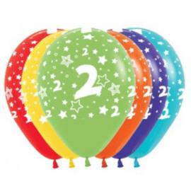 Latex Ballonnen Cijfer 2