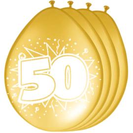 Latex ballonnen 50 jaar huwelijk