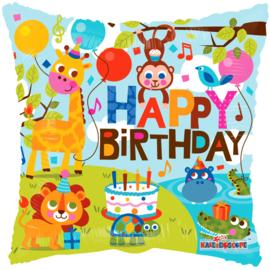 Folie Ballon Happy Birthday Jungle (leeg)