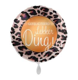 Folie Ballon Gefeliciteerd Lekker ding!.