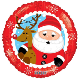 Folie Ballon Kerstman & Rendier (leeg)