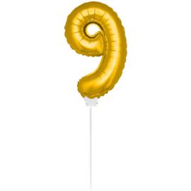 Folie Cijfer Goud 9 (leeg)