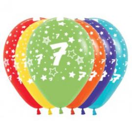 Latex Ballonnen Cijfer 7