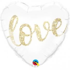Folie ballon Glitter Love (leeg)