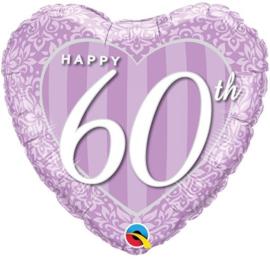 Folie Ballon Happy 60 th (leeg)