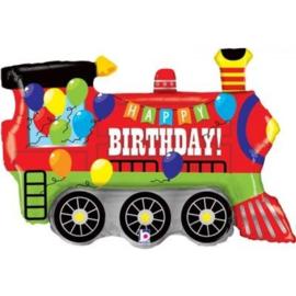 Folie Ballon Happy Birthday Trein