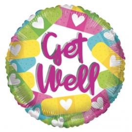 Folie Ballon Gett Well Eco (leeg)