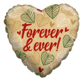 Folie Ballon Forever & Ever (leeg)