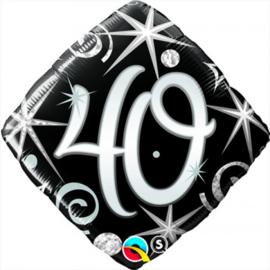 Folie ballon Square Elegant Sparkles & Swirls - 40 (leeg)