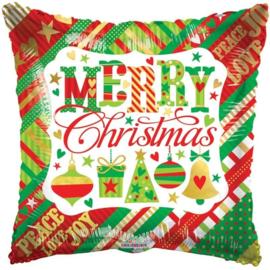 Folie Ballon Merry Christmas (leeg)