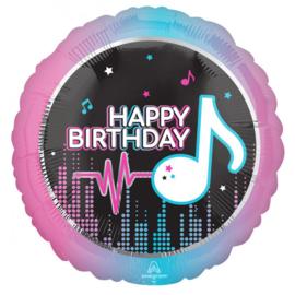 Folie Ballon Happy Birthday Muziek (leeg)