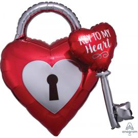 Folie Ballon Key to my Heart 3D (leeg)