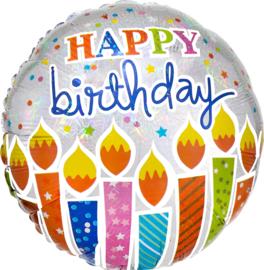 Folie Ballon Birthday Candles (leeg)
