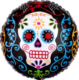 Folie Ballon Halloween Skelet (leeg)