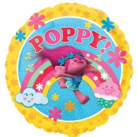 Folie ballon Trolls Poppy (leeg)